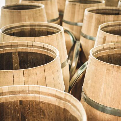 Beaulieu Vineyard Barrels Getting Prepared for Harvest