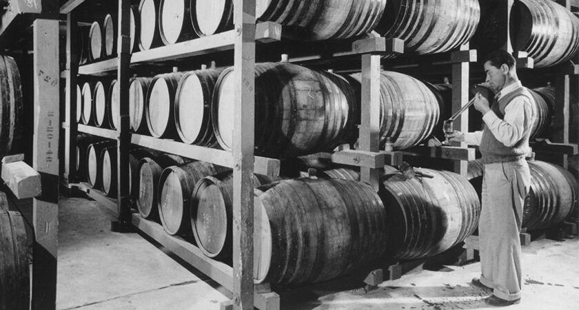 Historical Photograph of BV Barrels
