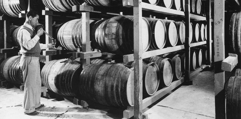 André Tchelistcheff Tasting Barrel Sample