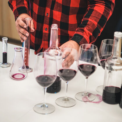 Testing Wine in Laboratory