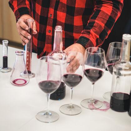 Testing Wine in Laboratory