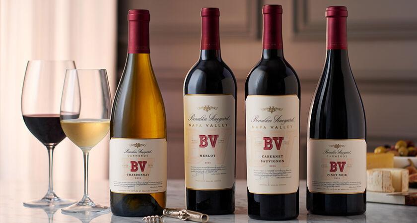 BV Carneros Chardonnay, Napa Valley Merlot, Napa Valley Cabernet Sauvignon, & Carneros Pinot Noir