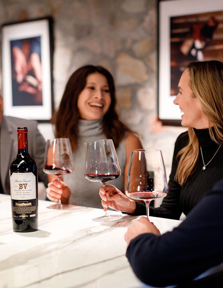 Wine Club Members Enjoying Tasting Experience in BV Tasting Room