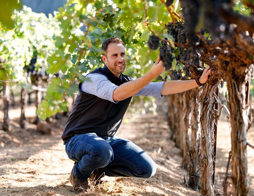 Winemaker Trevor Durling in BV Vineyard