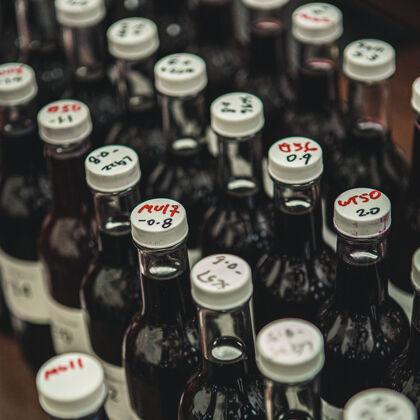 Wine Samples in Laboratory