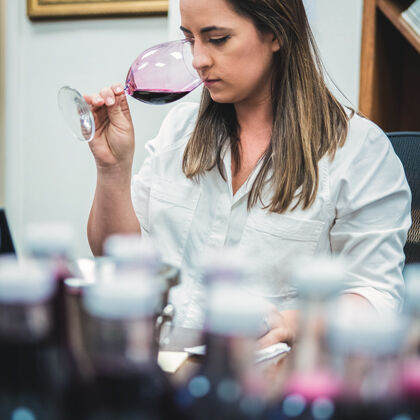 Tasting Wines in the Lab