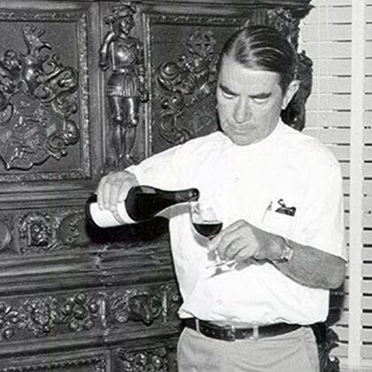 André Tchelistcheff Pouring Wine