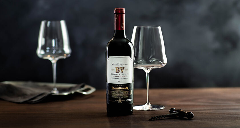 Bottle of BV Georges de Latour Cabernet Sauvignon