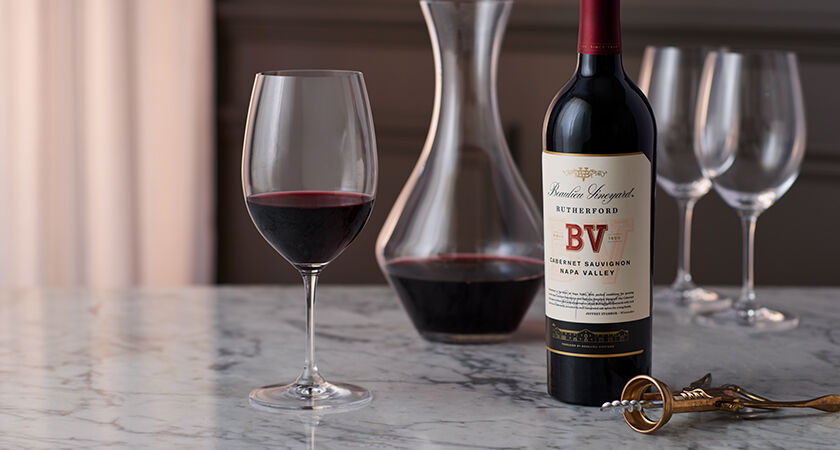 Bottle of BV Rutherford Cabernet Sauvignon