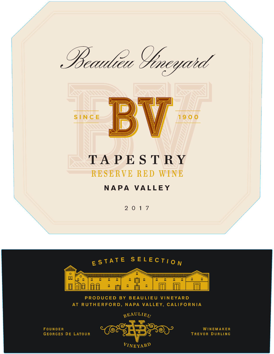 2017 Beaulieu Vineyard Tapestry Reserve Napa Valley Red Wine Front Label