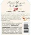 2016 Beaulieu Vineyard Rutherford Cabernet Sauvignon Back Label