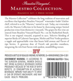 Beaulieu Vineyard 2014 Maestro Red Wine Back Label