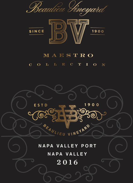 2016 Beaulieu Vineyard Maestro Port Front Label