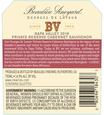 2016 Beaulieu Vineyard Georges de Latour Private Reserve Napa Valley Cabernet Sauvignon Back Label, image 3