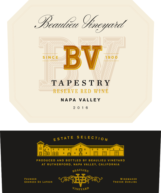 2016 Beaulieu Vineyard Tapestry Reserve Red Blend Front Label