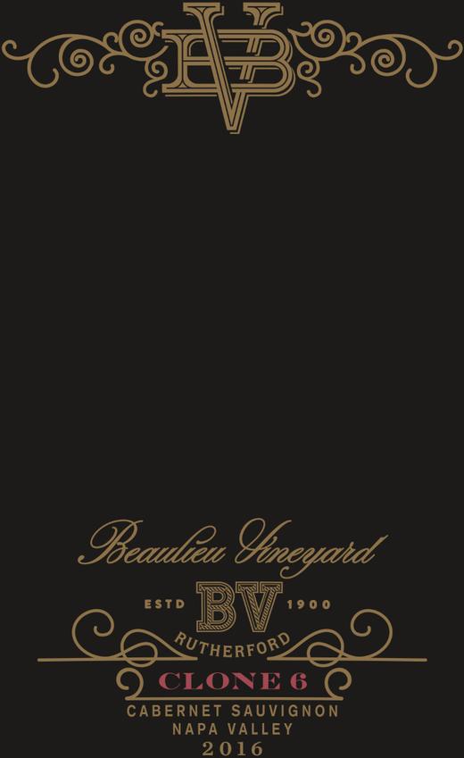 2016 Beaulieu Vineyard Clone 6 Napa Valley Cabernet Sauvignon Front Label