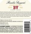 2016 Beaulieu Vineyard Carneros Pinot Noir Back Label, image 3
