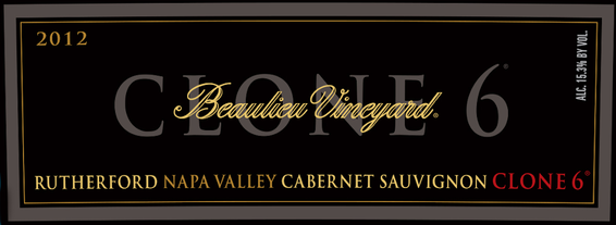 BV Clone 6 Rutherford Cabernet Sauvignon Front Label