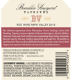 2016 Beaulieu Vineyard Reserve Tapestry Napa Valley Red Blend Back Label