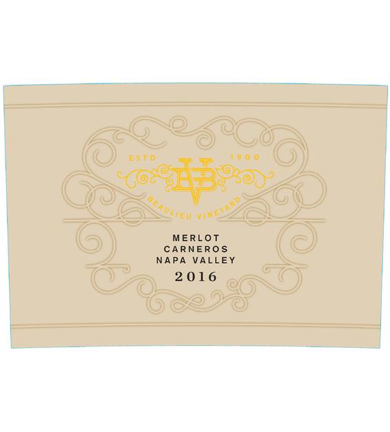 2016 Beaulieu Vineyard Maestro Carneros Merlot Front Label
