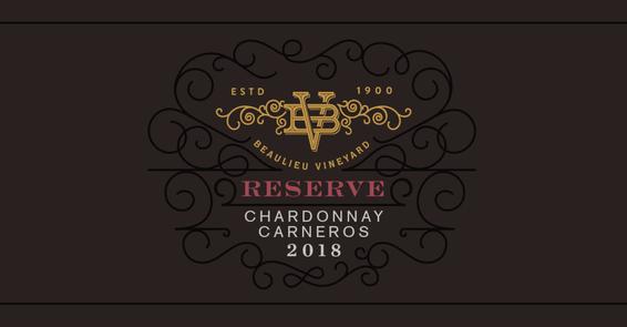 2018 Beaulieu Vineyard Reserve Carneros Chardonnay Front Label
