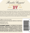 2017 Beaulieu Vineyard Carneros Chardonnay Back Label
