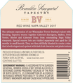 2017 Beaulieu Vineyard Tapestry Reserve Napa Valley Red Wine Back Label, image 3