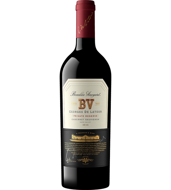 2018 Beaulieu Vineyard Private Reserve Georges de Latour Napa Valley Cabernet Sauvignon Bottle Shot