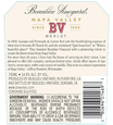 2016 Beaulieu Vineyard Napa Valley Merlot Back Label, image 3