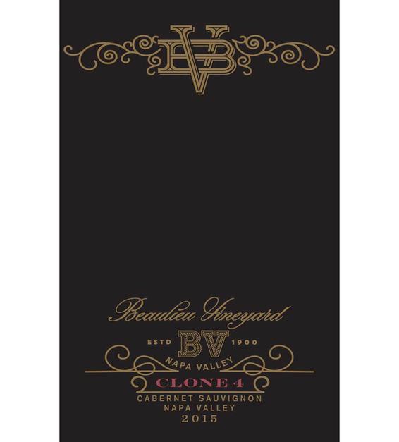 2015 Beaulieu Vineyard Reserve Clone 4 Rutherford Cabernet Sauvignon Front Label