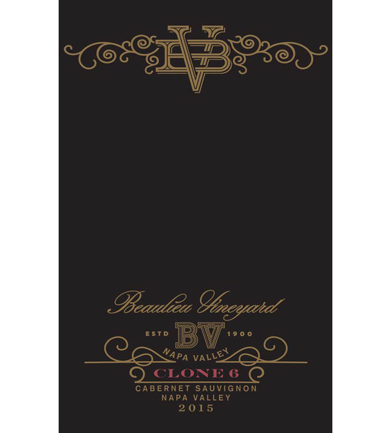 2015 Beaulieu Vineyard Reserve Clone 6 Rutherford Cabernet Sauvignon Front Label