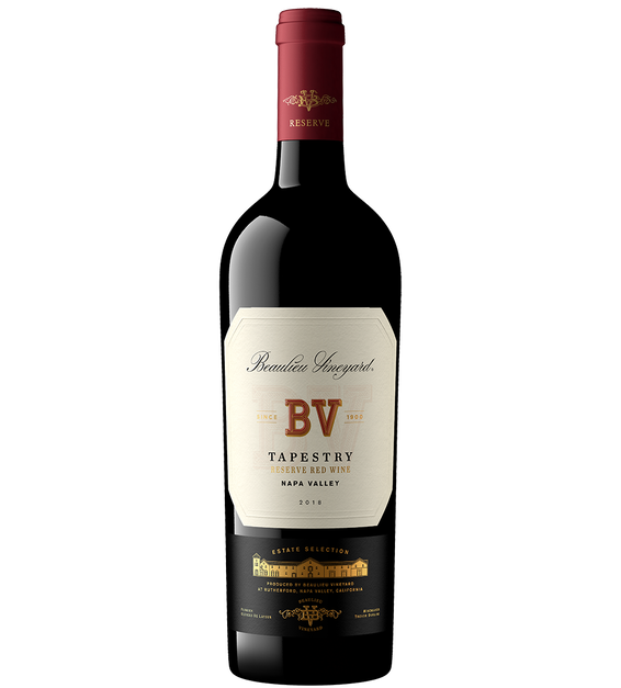 2018 Beaulieu Vineyard Tapestry Reserve Red Wine Napa Valley Bottle Shot