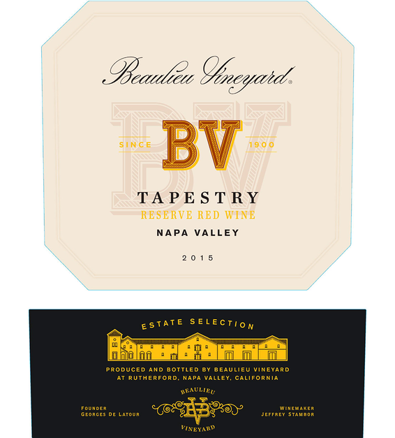 2015 Beaulieu Vineyard Reserve Tapestry Napa Valley Red Blend Front Label