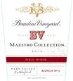 Beaulieu Vineyard 2014 Maestro Red Wine Front Label, image 2