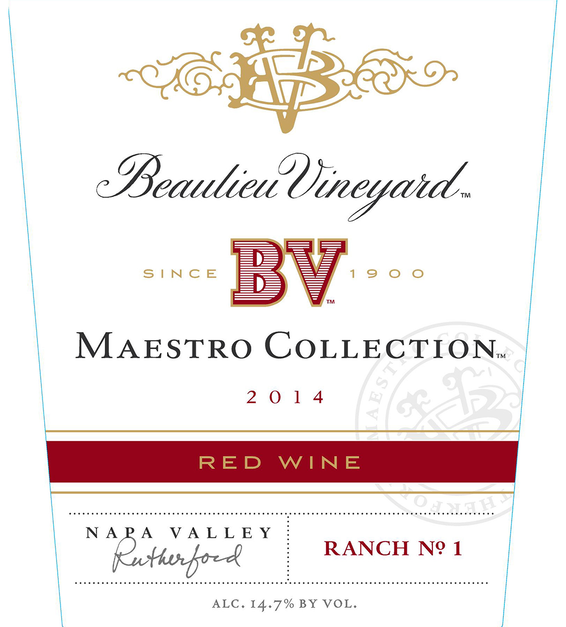 Beaulieu Vineyard 2014 Maestro Red Wine Front Label